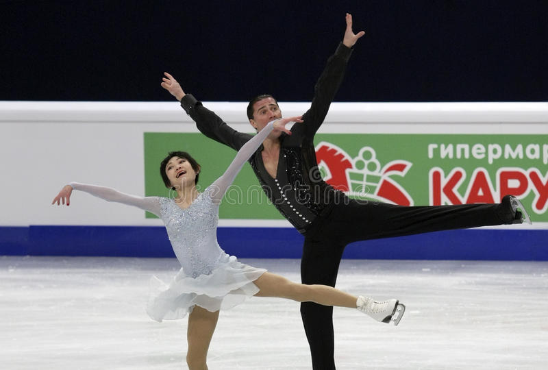 Yuko KAVAGUTI/Alexandre SMIRNOV (RUS) photographie stock