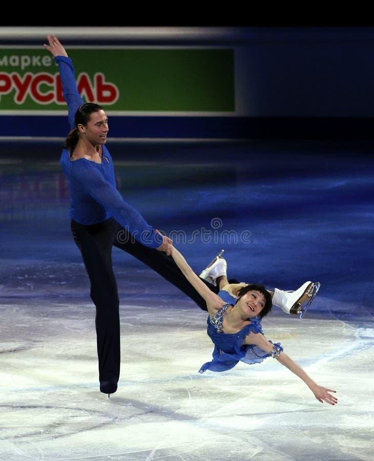 Yuko KAVAGUTI/Alexandre SMIRNOV (RUS) photo libre de droits