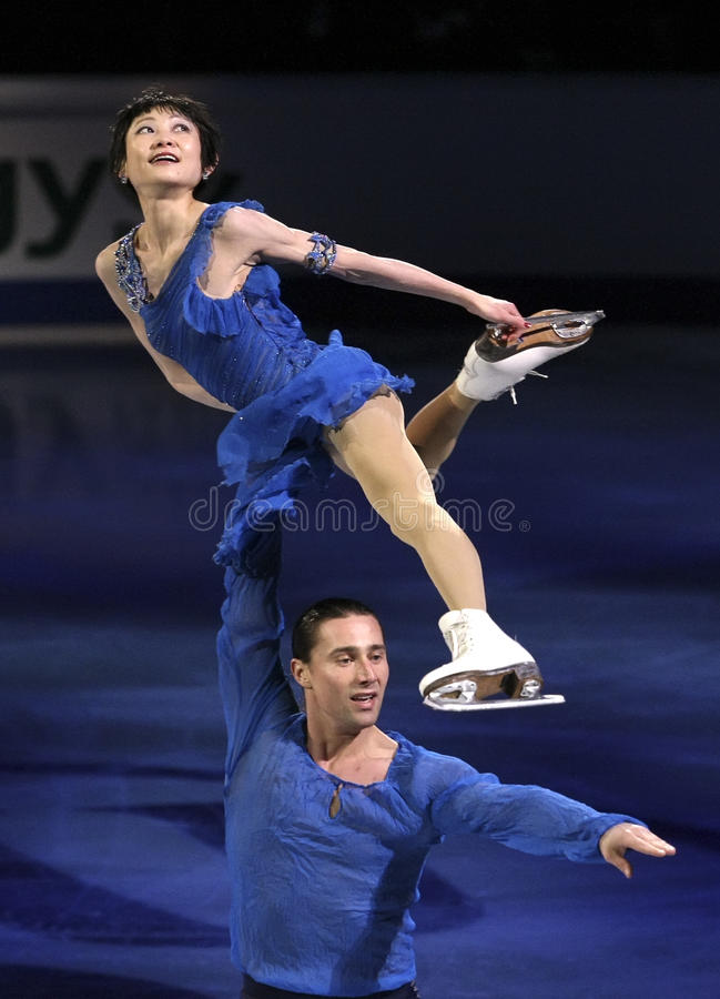 Yuko KAVAGUTI/Alexandre SMIRNOV (RUS) photos libres de droits
