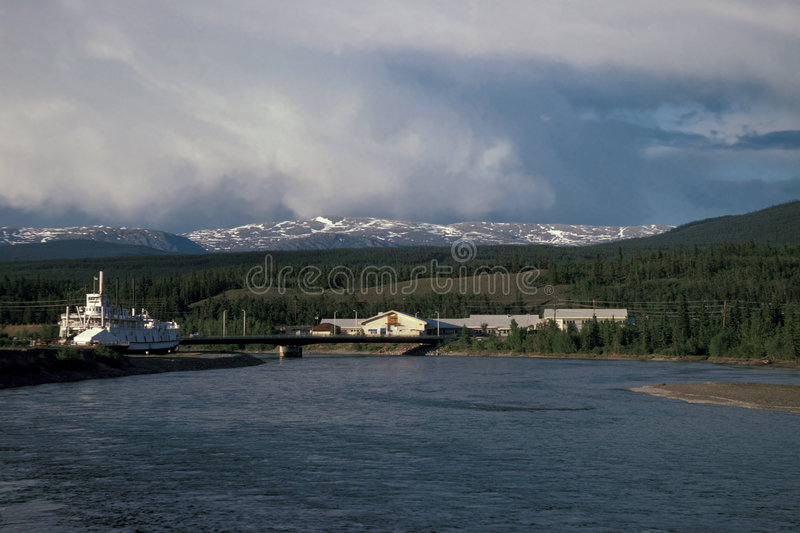 Yukon River. Near Whitehorse, Canada stock photo