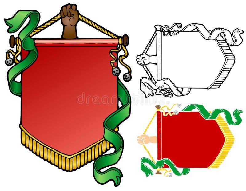 Yule Banner stock illustratie