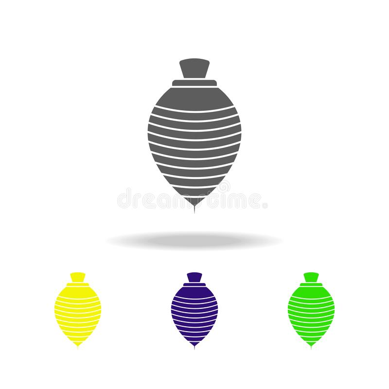 Yule colored icons. Element of toys. Can be used for web, logo, mobile app, UI, UX. On white background stock illustration