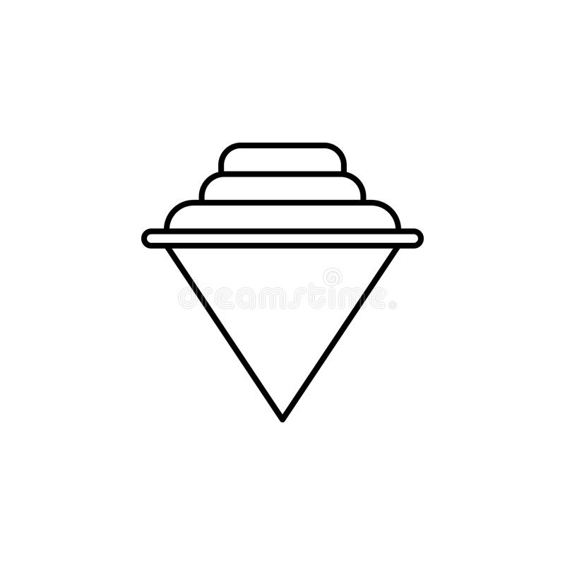 yule icon. Element of simple icon for websites, web design, mobile app, info graphics. Thin line icon for website design and devel stock illustration