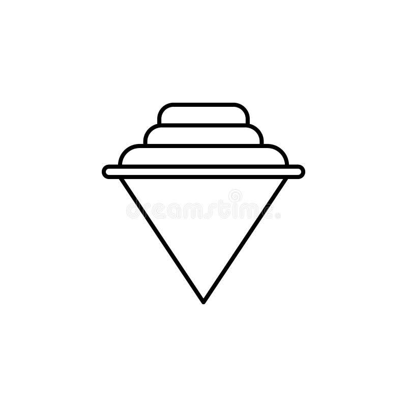 yule Ikone Element der einfachen Ikone für Website, Webdesign, bewegliche APP, Informationsgraphiken Dünne Linie Ikone für Websit stock abbildung