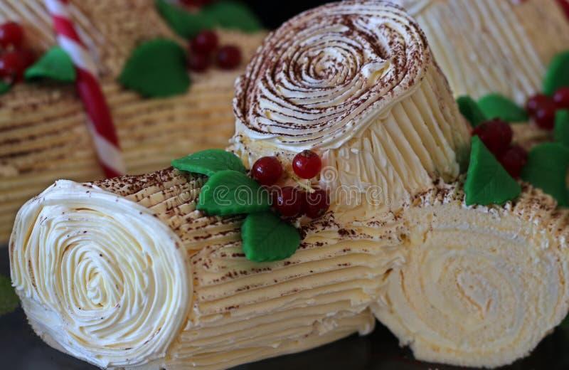 Yule Log Cake photo libre de droits