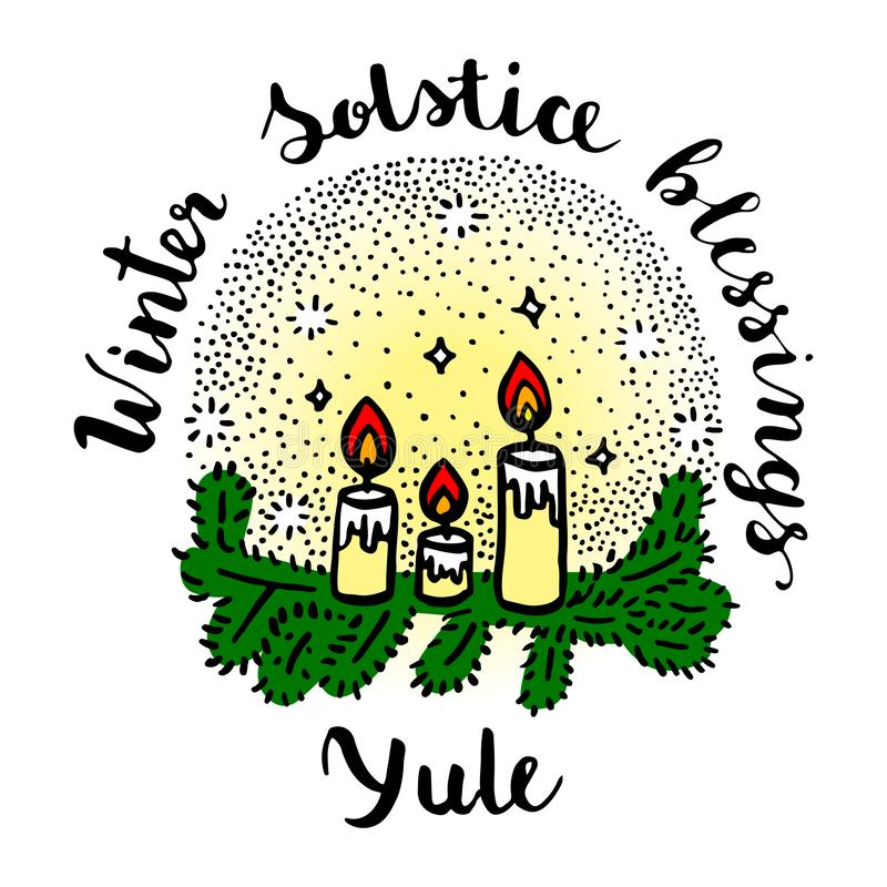Free Yule Winter Solstice Day Greeting Card. Stock Photos - 162955893