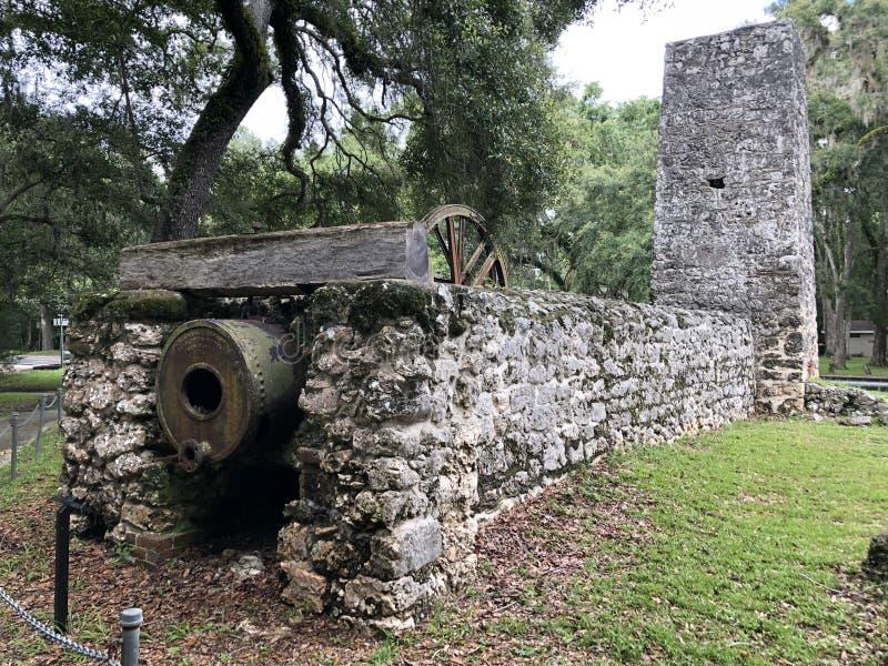 Yulee Sugar Mill Ruins royaltyfri foto