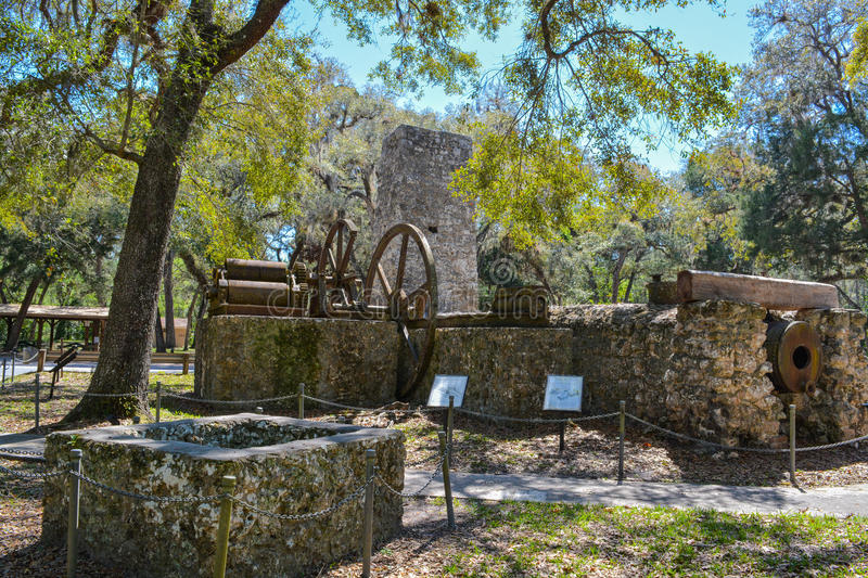 Yulee Sugar Mill Ruins Historic State Park in Homosassa Florida USA. Yulee Sugar Mill Ruins Historic State Park in Homosassa Florida royalty free stock images