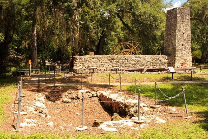 Yulee Sugar Mill Ruins. Historic State Park in Homosassa, Florida royalty free stock photography