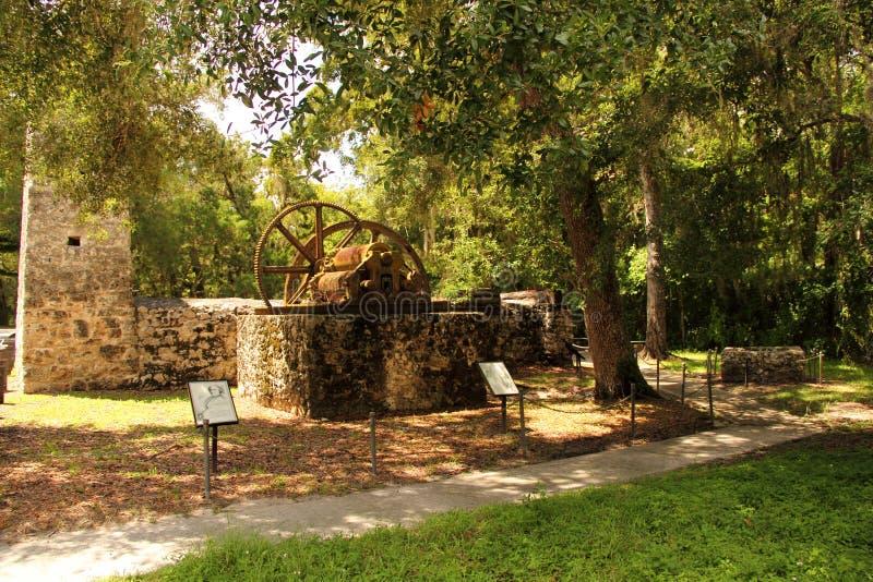 Yulee Sugar Mill Trail. Yulee Sugar Mill Ruins Historic State Park in Homosassa, Florida royalty free stock photos