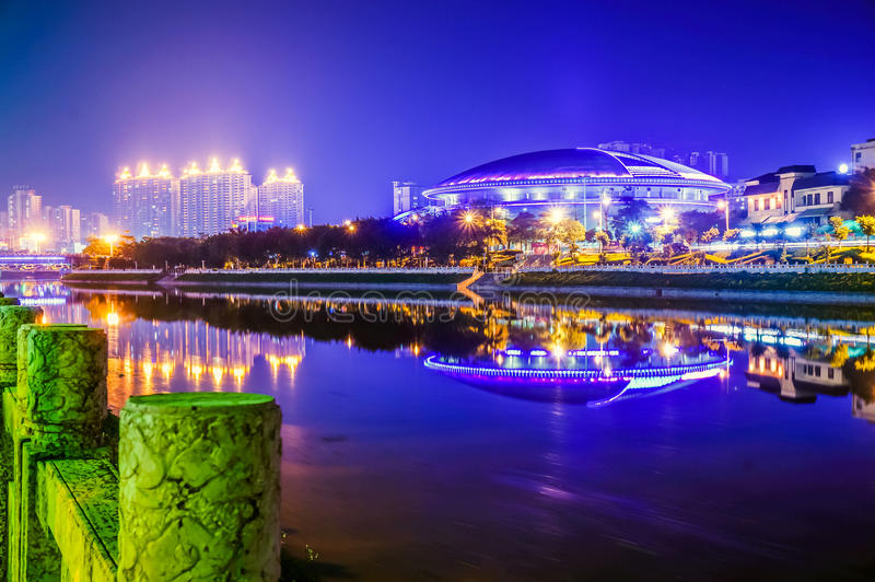 Yulin city stadium in China royalty free stock image