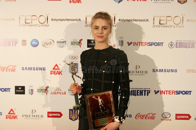 Yuliya Levchenko na conferência de imprensa imagem de stock