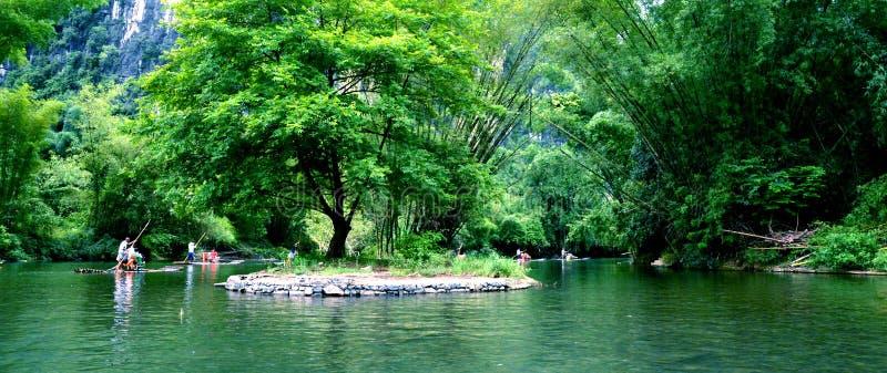 Yulong flod fotografering för bildbyråer