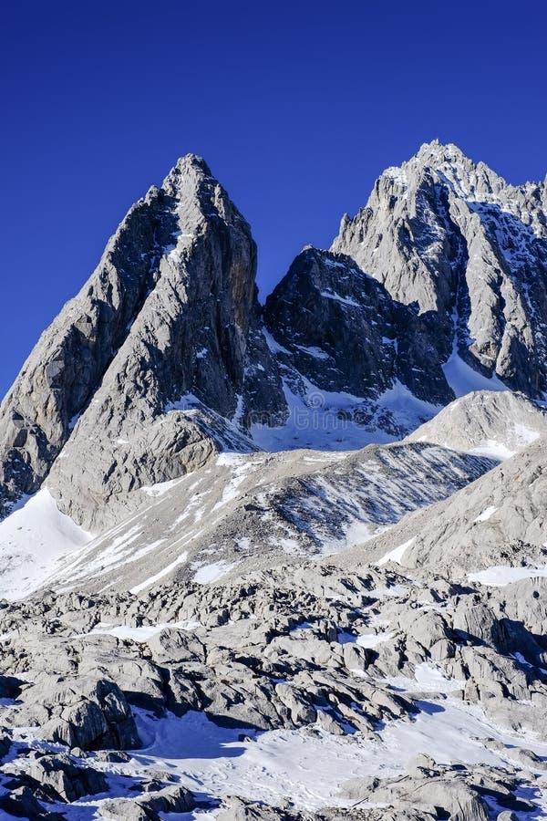 Yulong-Schnee-Berg Yunnan China stockfoto