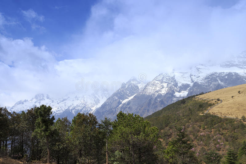 Yulong snow mountain stock image