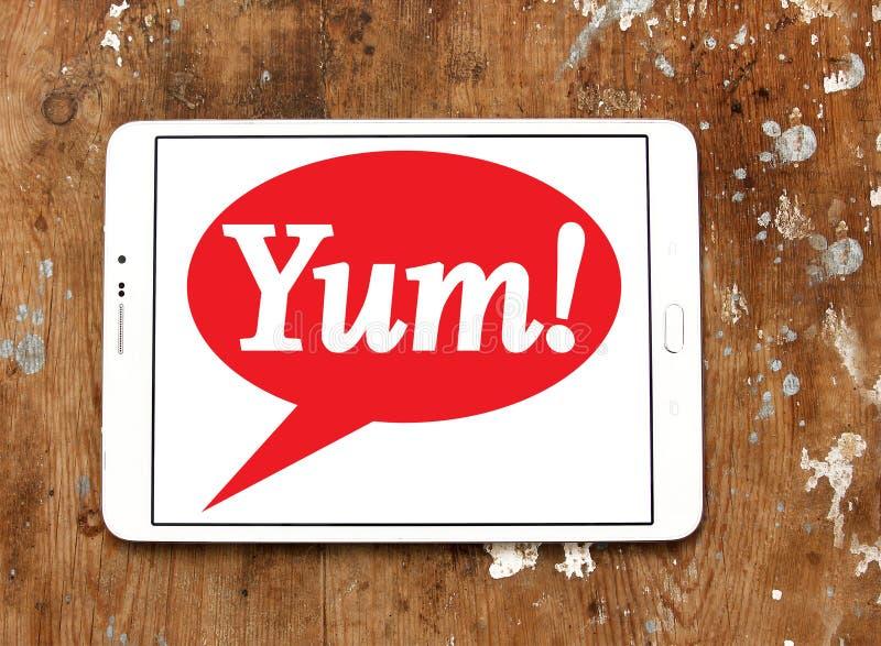 Yum! Brennt Logo ein lizenzfreie stockfotografie