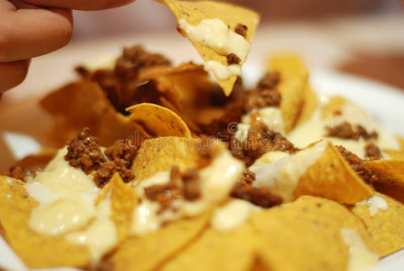 yum nachos стоковое фото