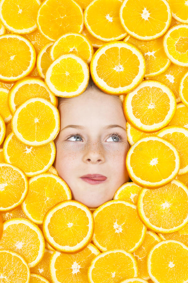 Download Yum Oranges stock photo. Image of fruit, caucasian, beauty - 25356002