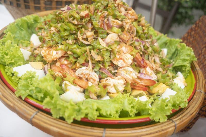 Yum Tua Poo, comida tailandesa foto de archivo