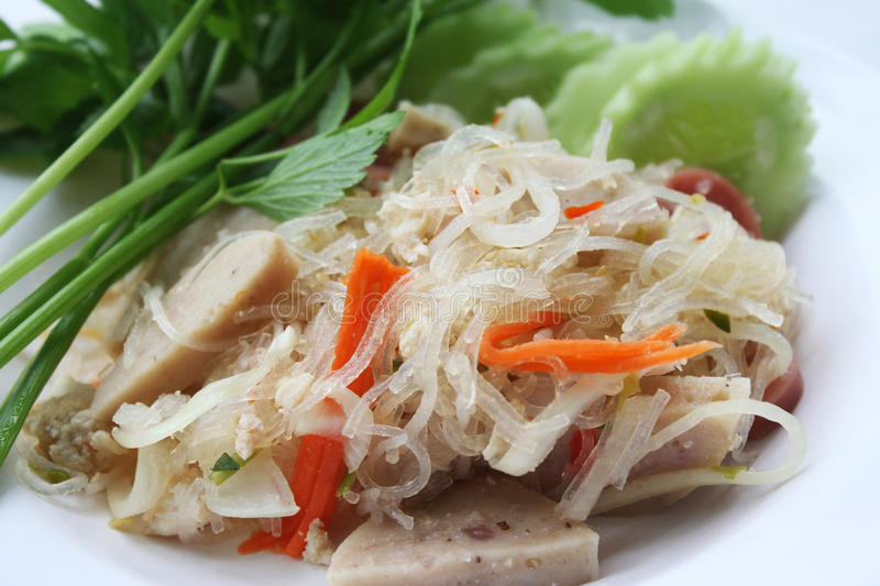 Yum Vermicelli in Thailand. Thail food stock image