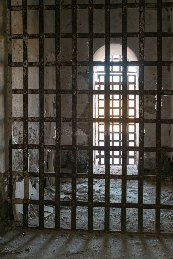 Yuma Territorial Prison, grimmige cellen stock foto's