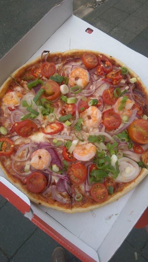 yummi de tomates de crevettes de pizza image libre de droits