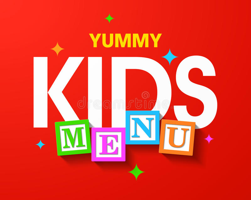 Yummy επιλογές παιδιών απεικόνιση αποθεμάτων