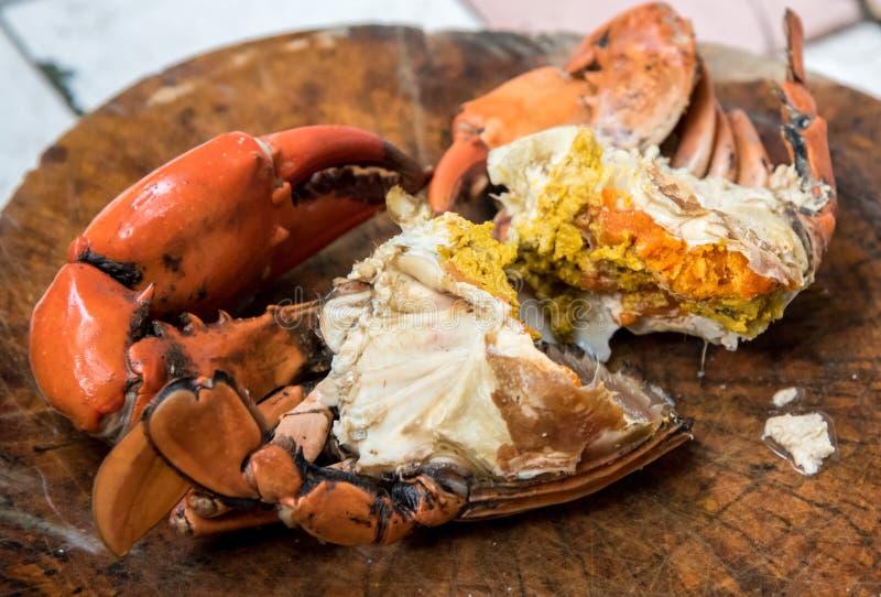 Yummy краб с яичком, продуктом моря стоковые изображения rf
