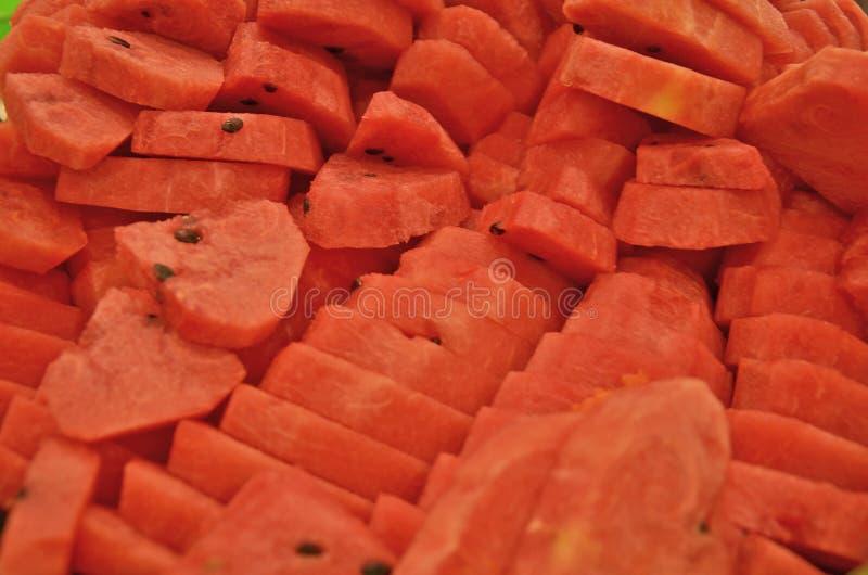 Yummy свежие части арбуза стоковое изображение rf