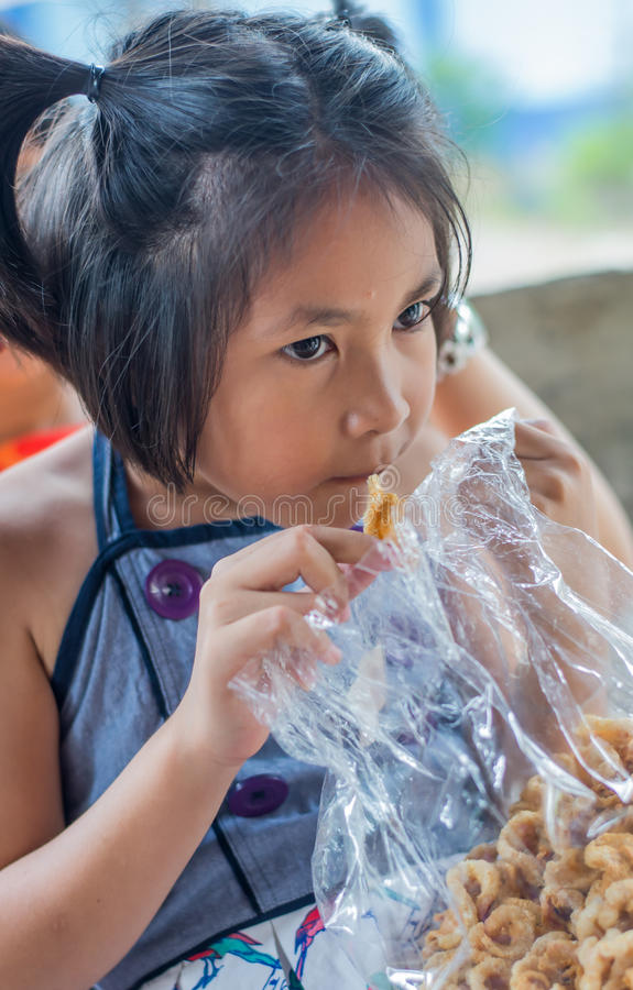 Yummy stock photo. Image of asian, girl, hungry, little