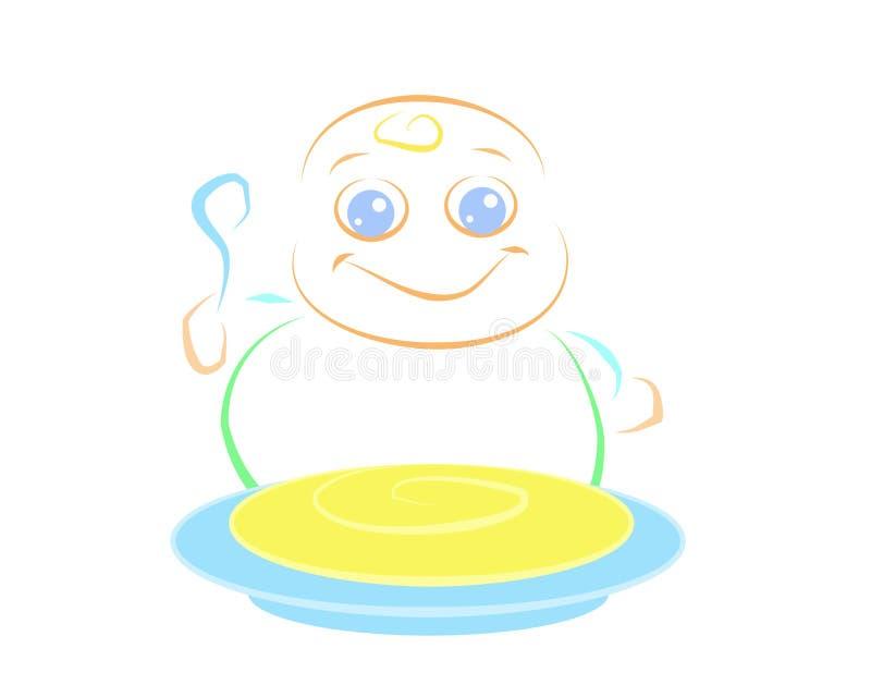 Download Yummy Baby stock illustration. Illustration of food, kids - 8406724
