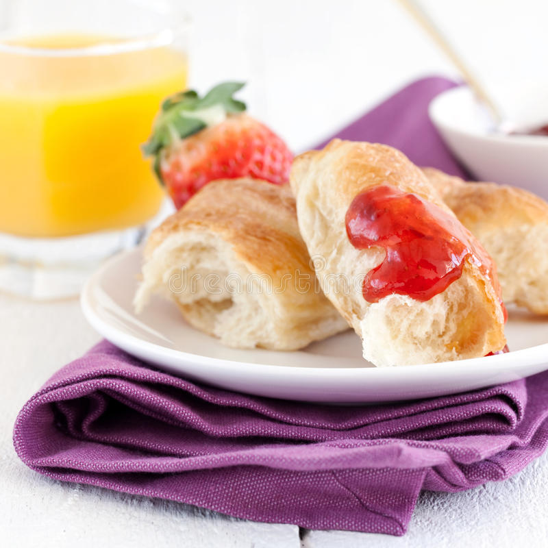 Download Yummy breakfast stock image. Image of croissants, fruity - 23741029
