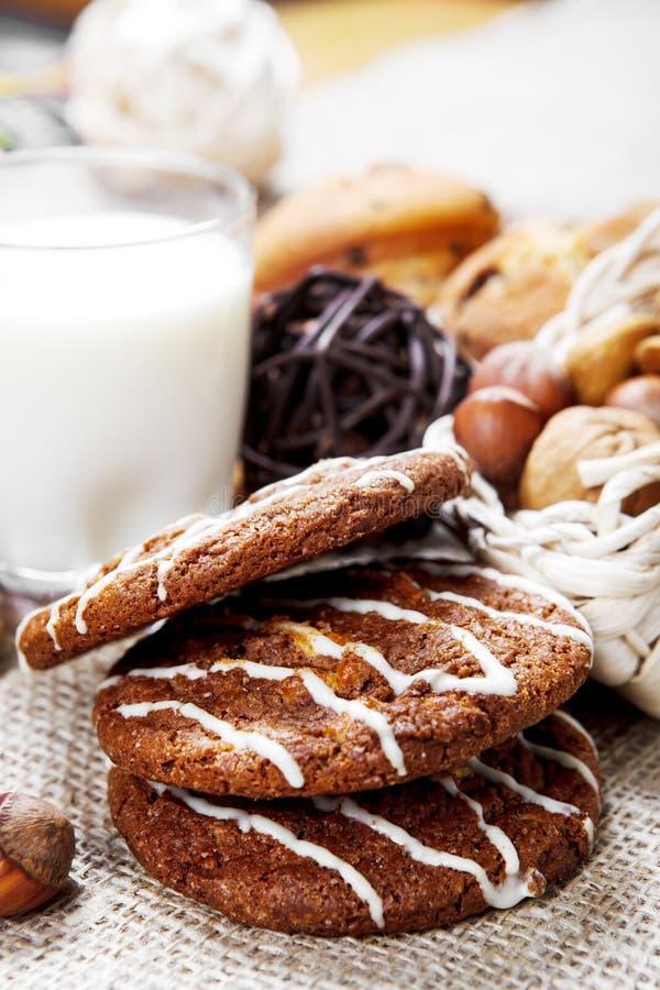 Download Yummy chocolate cookies stock image. Image of hazelnut - 27586555