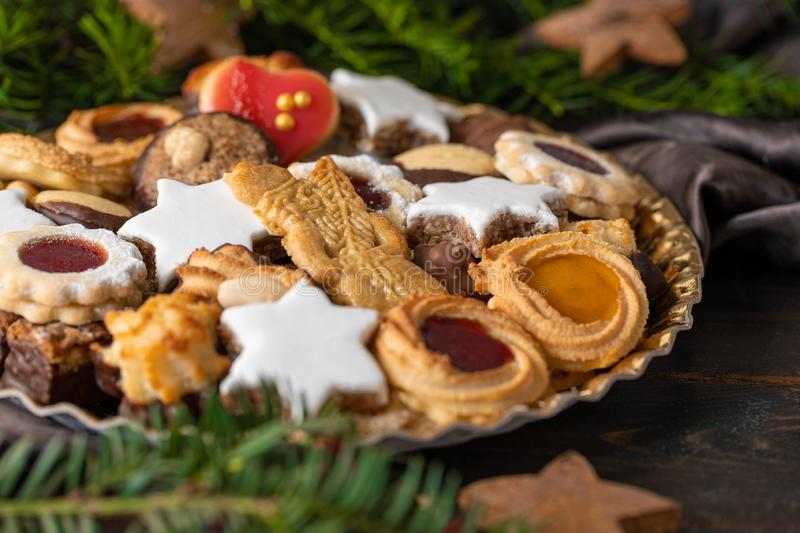 Yummy Christmas Cookies from germany royalty free stock images