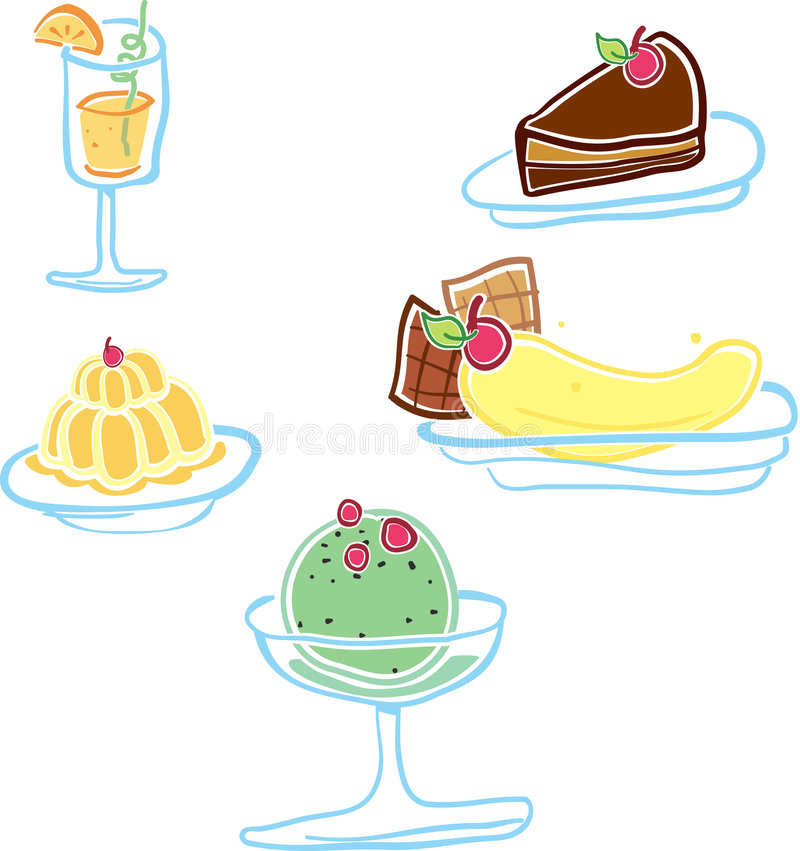 Yummy Dessert Royalty Free Stock Photos