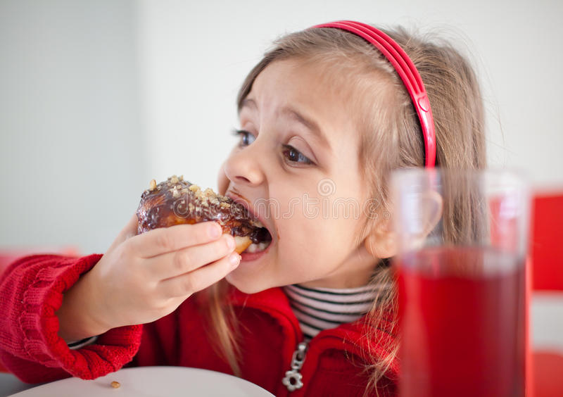 Yummy donut stock photography