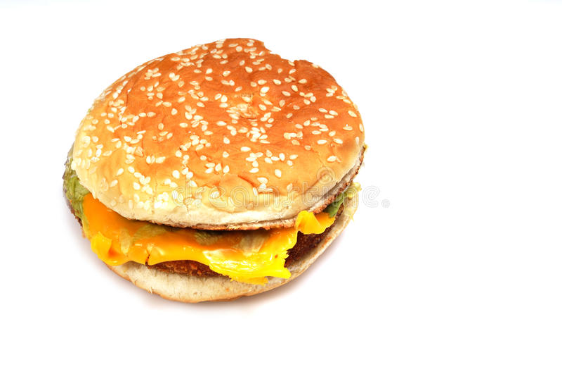 Yummy hamburger stock afbeelding