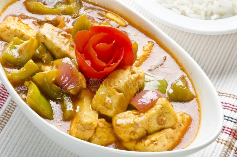 Yummy heerlijke mouthwatering Spaanse pepers paneer stock foto