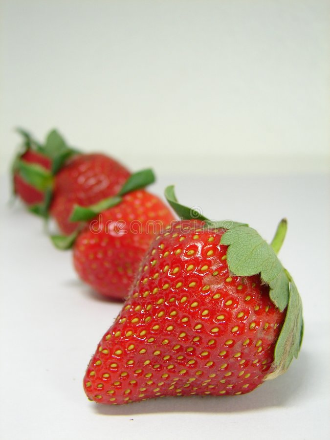 Yummy Strawberries royalty free stock photography