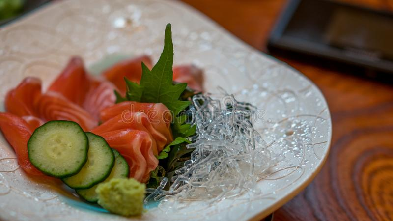 Yummy Vers Salmon And Vermicelli stock fotografie