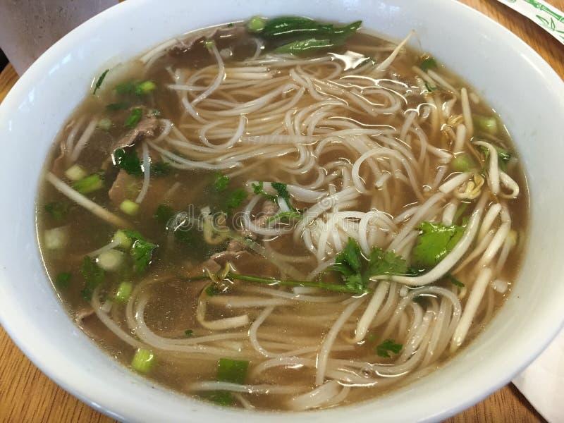 Yummy wołowiny pho Wietnamska polewka fotografia stock