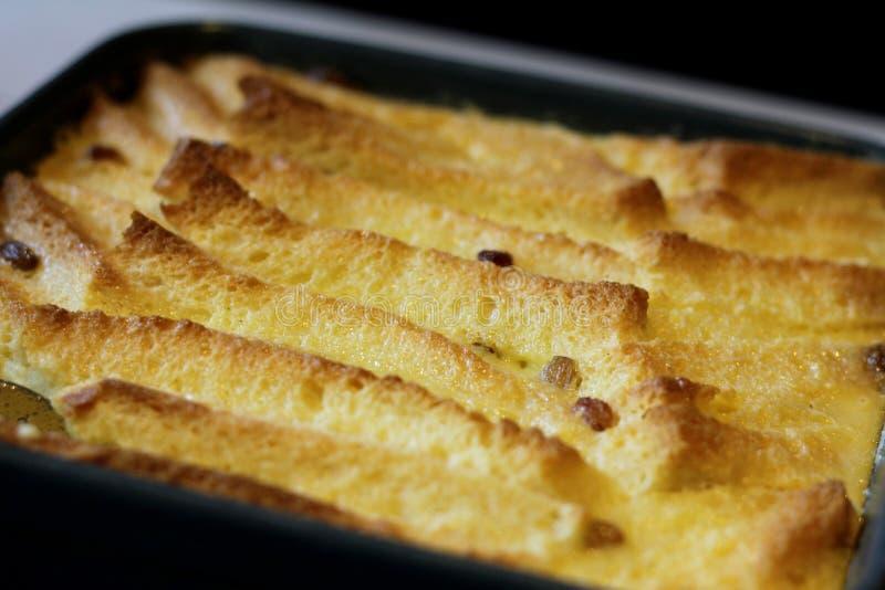 Yummy Woestijn diende na diner royalty-vrije stock afbeeldingen