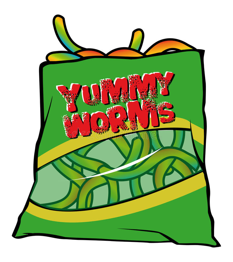 Yummy Worms Candy Royalty Free Stock Image