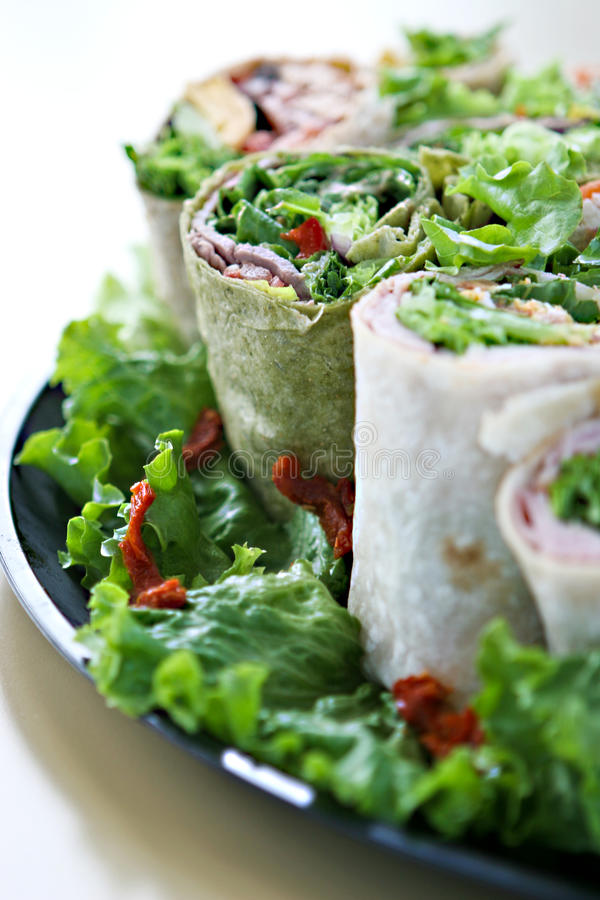 Download Yummy Wraps stock image. Image of food, cuts, sandwhich - 25110979