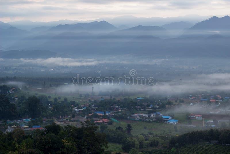 Breathtaking Views in the morning at Yun Lai viewpoint,Pai,Mae Hong Son,Northern Thailand. stock photos