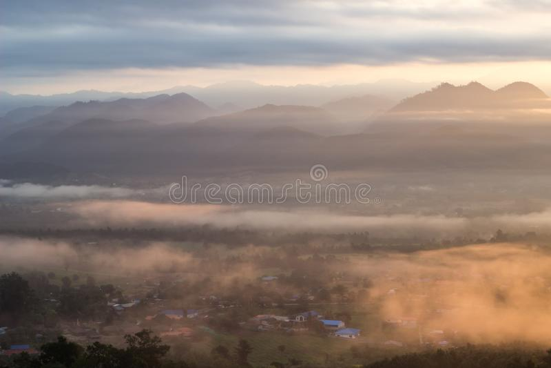 Breathtaking Views in the morning at Yun Lai viewpoint,Pai,Mae Hong Son,Northern Thailand. royalty free stock photography