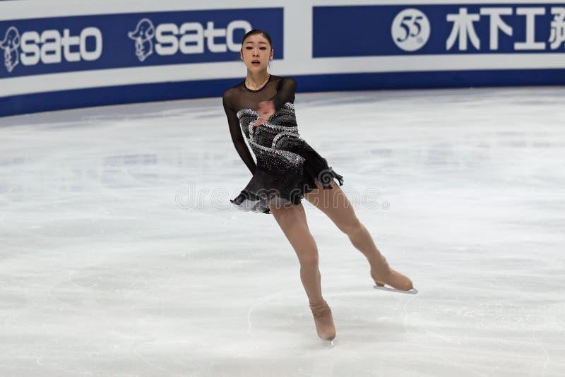 Yuna Kim, patinador artística coreano imagens de stock royalty free