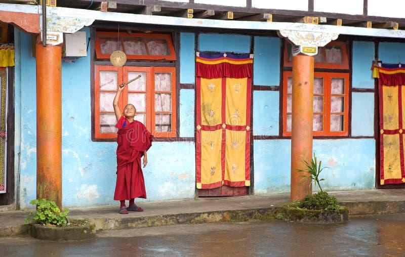 Yung Drung Kundrak Lingbon修道院,西部锡金,印度 库存图片