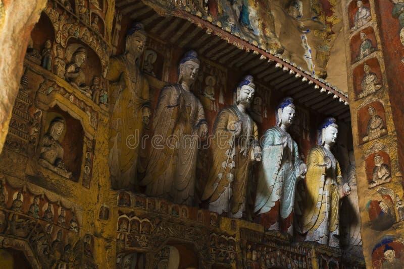 Yungang caves stock photography