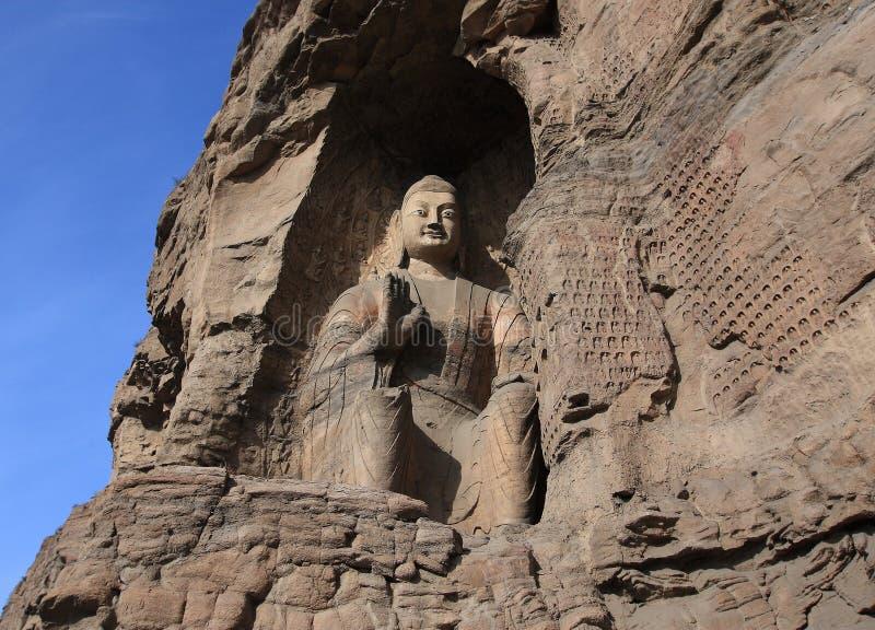 Yungang Grotten stockfoto